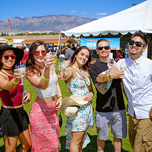 Patrons at Albuquerque Wine Festival